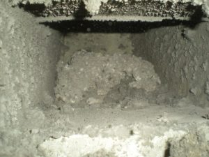 Dirty extract duct